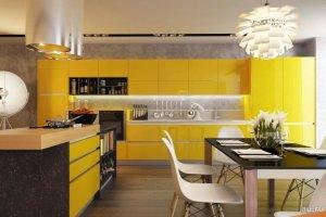 Сочная пластиковая кухня - Мебельная фабрика «Элна»