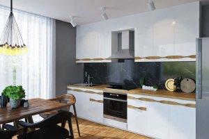 Кухня глянец Sorrento Wood - Мебельная фабрика «Энгельсская (Эмфа)»