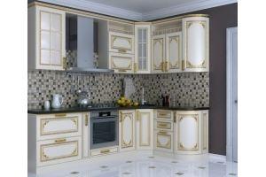 Белая угловая кухня патина - Мебельная фабрика «ПИЛИГРИМ»