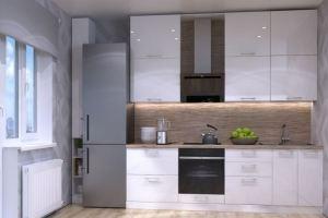 Прямая кухня с фасадами пластик 3 - Мебельная фабрика «ПИЛИГРИМ»