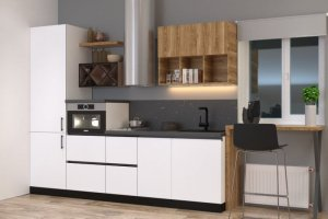 Прямая кухня с фасадами пластик 4 - Мебельная фабрика «ПИЛИГРИМ»