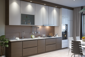 Прямая кухня с фасадами МДФ 3 - Мебельная фабрика «ПИЛИГРИМ»