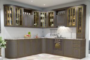 Угловая кухня фасады патина - Мебельная фабрика «ПИЛИГРИМ»