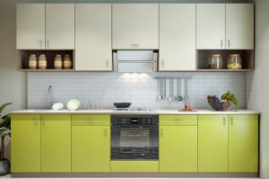Современная прямая кухня Лайм - Мебельная фабрика «ПИЛИГРИМ»