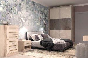 Спальный гарнитур со шкафом-купе - Мебельная фабрика «ПИЛИГРИМ»