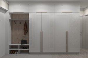 Светлая прихожая пластик 2 - Мебельная фабрика «ПИЛИГРИМ»