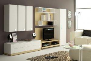 Современная белая гостиная - Мебельная фабрика «Мебельная мастерская»