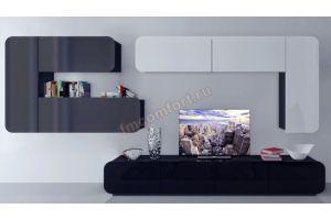Современная глянцевая стенка АйМеб 1 - Мебельная фабрика «Комфорт»