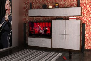 Современная Гостиная стенка Комфорт 11 - Мебельная фабрика «Шадринская»