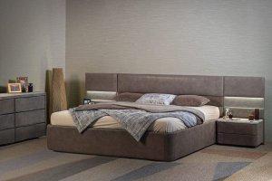 Современная Кровать Киото stone - Мебельная фабрика «Dream land»