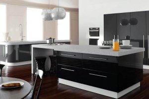 Современная кухня акрил черный металлик alt15 - Мебельная фабрика «Вся Мебель»