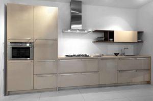 Современная кухня бежевая - Мебельная фабрика «Гранд Мебель»