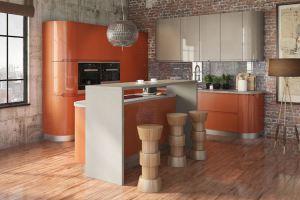 Современная кухня Интегра с островом - Мебельная фабрика «Кухни MIXX»