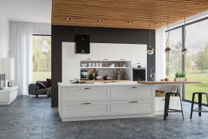 Современная кухня из ясеня Лимба - Мебельная фабрика «GeosIdeal»