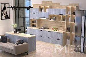 Современная кухня MEDIUM GREY 3000 ММ - Мебельная фабрика «Ревдамебель»