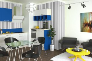 Современная кухня Сингл Лайт - Мебельная фабрика «Первая мебельная фабрика»