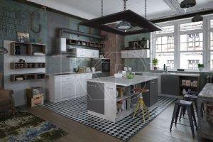 Современная кухня Стоун - Мебельная фабрика «Кухонный двор» г. Малаховка