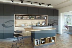 Современная кухня Валенсия с островом - Мебельная фабрика «Спутник стиль»