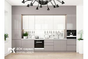 Современная прямая кухня - Мебельная фабрика «ДОК-Сервис»