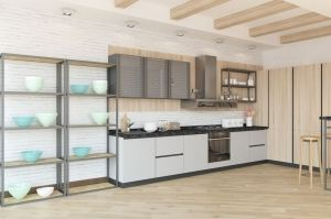Современная прямая кухня - Мебельная фабрика «Акварель»