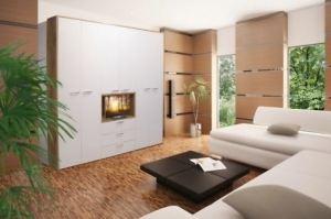 Современная стенка Стиль-1 - Мебельная фабрика «Балтика мебель»