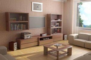 Современная стенка в гостиную - Мебельная фабрика «Святогор Мебель»