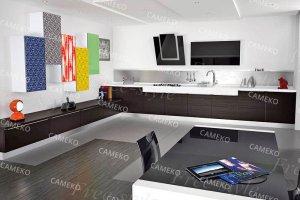 Современная угловая кухня - Мебельная фабрика «Самеко»