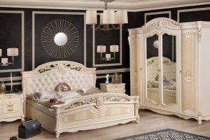 Спальная мебель бежевая Афина - Мебельная фабрика «Северо-Кавказская фабрика мебели»