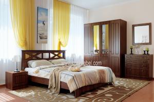 Спальня Адель base (орех экко) - Мебельная фабрика «Орёлмебель»