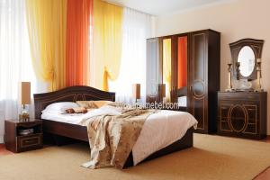 Спальня Беатрис (Орех Антикварный+бронза) - Мебельная фабрика «Орёлмебель»