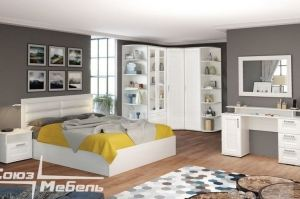 Спальня белая Люкс Бодега - Мебельная фабрика «Союз-мебель»