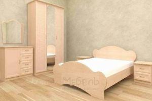 Спальня светлая Тюльпан - Мебельная фабрика «Алтай-мебель»