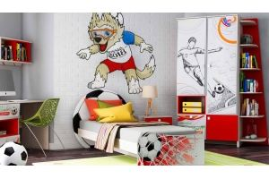 Спальня для мальчика Футбол 2 - Мебельная фабрика «Ваша мебель»