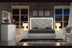 Спальня Franco Kio с LED подсветкой изголовья - Импортёр мебели «Евростиль (ESF)»