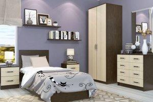 Спальня ЛДСП 007 - Мебельная фабрика «МИКС»