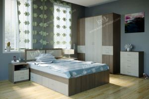 Спальня ЛДСП 4 - Мебельная фабрика «Контур»