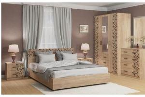Спальня ЛДСП фотопечать Вдохновение - Мебельная фабрика «Балтика мебель»