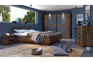 Спальня ЛДСП Куба 2 - Мебельная фабрика «Bravo Мебель»