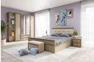 Спальня Ливорно Дуб Сонома - Мебельная фабрика «ТЭКС»
