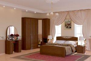 Спальня МДФ Марта орех - Мебельная фабрика «Ясень»