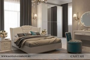 Спальня МДФ Альпина 1 - Мебельная фабрика «САНТАН»