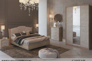 Спальня МДФ Альпина 2 - Мебельная фабрика «САНТАН»