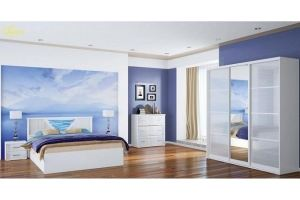 Спальня МДФ Бриз 2 - Мебельная фабрика «МИГ»