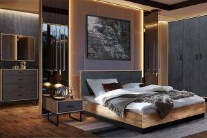 Спальня МДФ Loft Лайн - Мебельная фабрика «Пинскдрев»