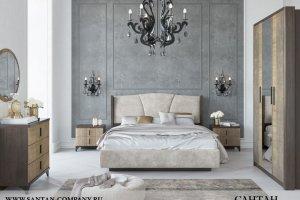 Спальня МДФ Шер 1 - Мебельная фабрика «САНТАН»