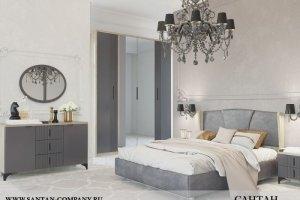 Спальня МДФ Шер 2 - Мебельная фабрика «САНТАН»