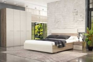 Спальня МДФ в стиле Лофт 1 - Мебельная фабрика «Фаворит»