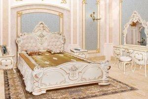 Спальня модульная Людовик кракелюр - Мебельная фабрика «Мэри-Мебель»