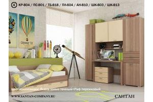 Спальня молодежная Лотос - Мебельная фабрика «Сантан»