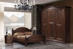Спальня натуральный массив Лотос - Мебельная фабрика «Пинскдрев»